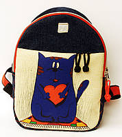 Джинсовый рюкзак Отдам сердце в хорошие руки, фото 1
