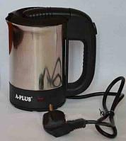 Чайник дорожный электрический А-Плюс ЕК-1700, 0,5л, световой индикатор, автооотключение, 2 чашки