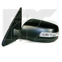 Зеркало левое электро с обогревом грунт. 7pin с указателем поворота без подсветки Sorento 2010-13