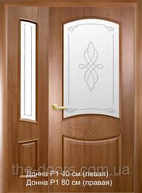 Полуторні двері Донна скло з малюнком Р1