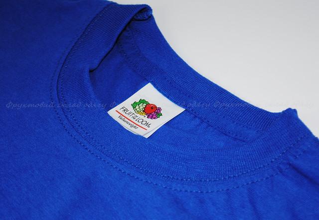 Ярко-синяя детская классическая футболка для мальчиков