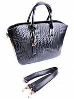 Кожаная женская сумка 1038 Black
