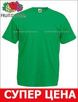 Мужская Футболка Классическая Fruit of the loom Ярко-Зелёный 61-036-47 M, фото 3