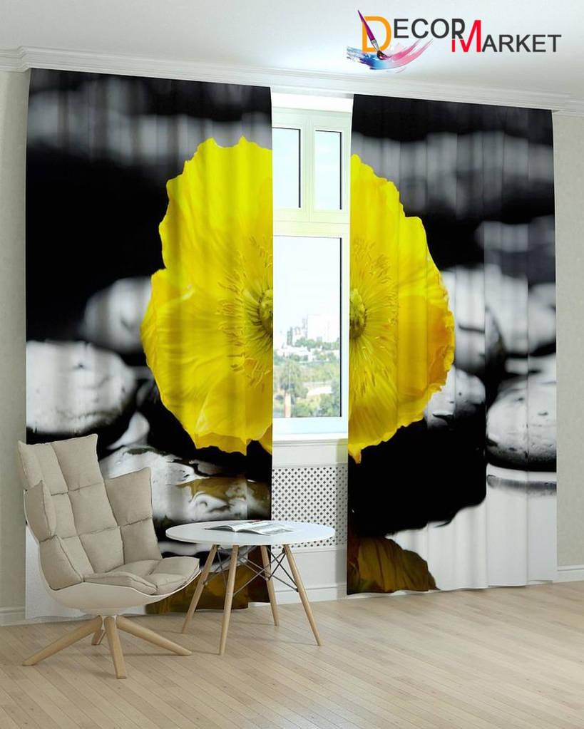 Фотошторы желтый цветок
