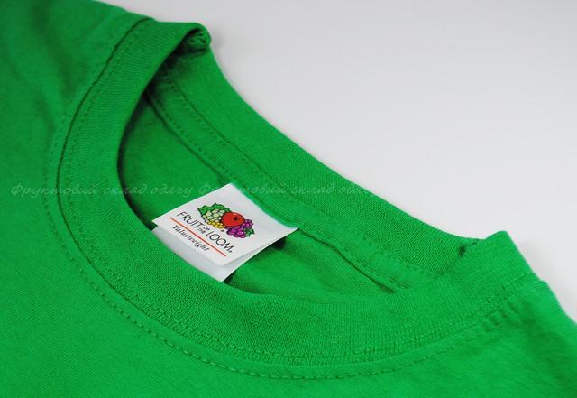 Ярко-зелёная мужская классическая футболка