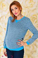 Свитшот для беременных и кормления 2-в-1 Бирюзовый меланж