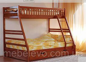 Кровать двухъярусная Юлия с ящиками  90(140)х200 Венгер