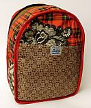 Джинсовый рюкзак стеснительный кот, фото 5