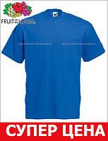 Мужская Футболка Классическая Fruit of the loom Ярко-Синий 61-036-51 L