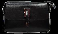 Элегантная женская сумочка из натуральной кожи черного цвета AAQ-007699