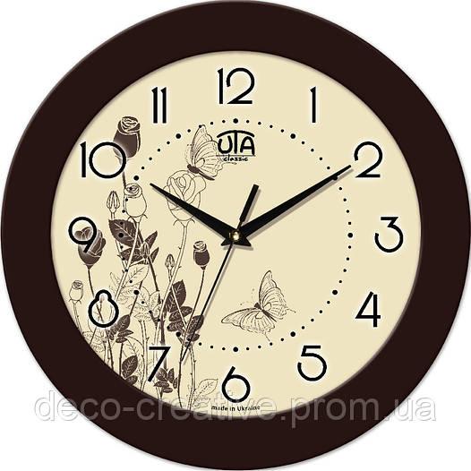 """Годинник настінний ЮТА """"Fashion"""" 330Х330Х45мм 12 FBr"""