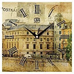 Годинник настінний Вінтажна листівка