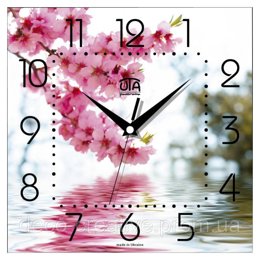 Годинник настінний Сакура над водой