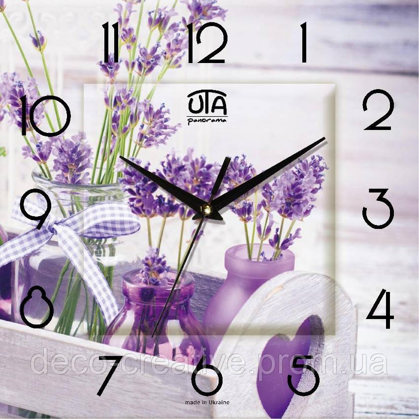 Годинник настінний Ніжна лаванда