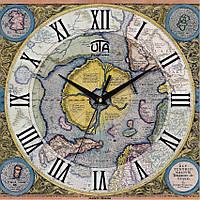 Годинник настінний Старовинна карта