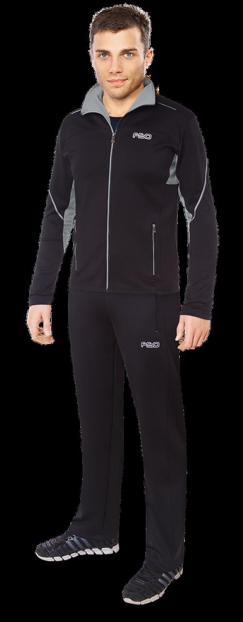 Мужской черный спортивный костюм F50 (р. 46-54) арт. 237D