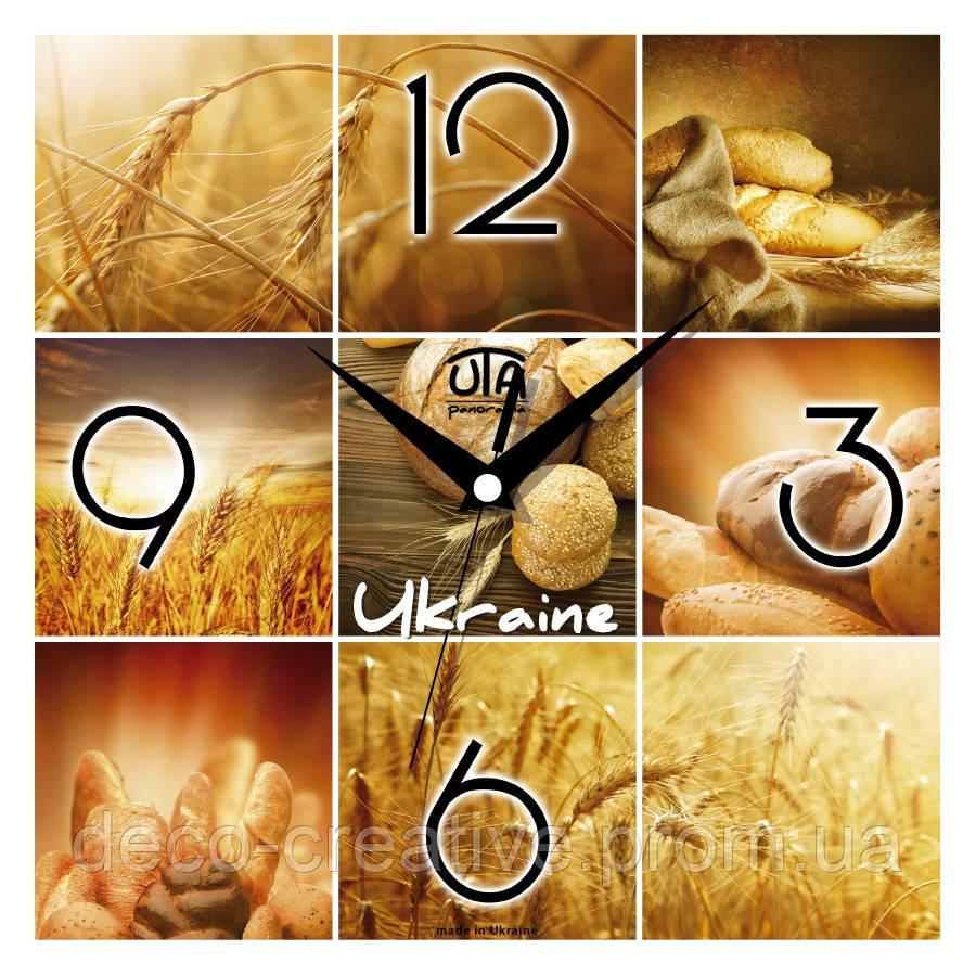Годинник настінний Пшениця та хліб