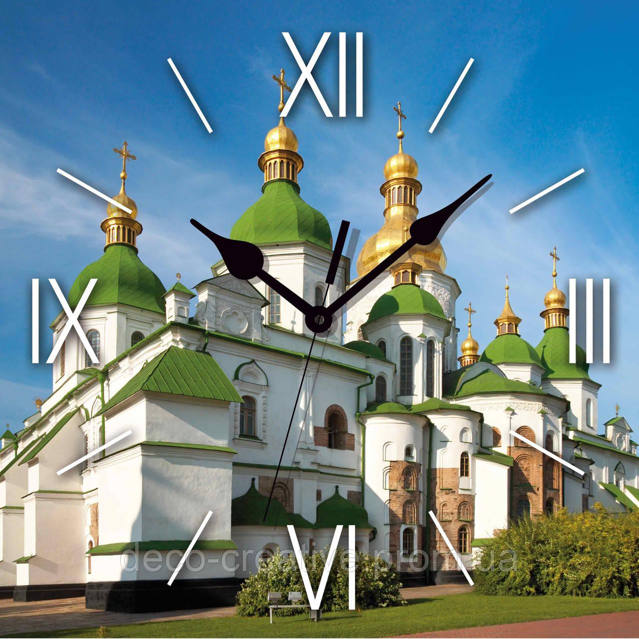 Годинник настінний Красива церква