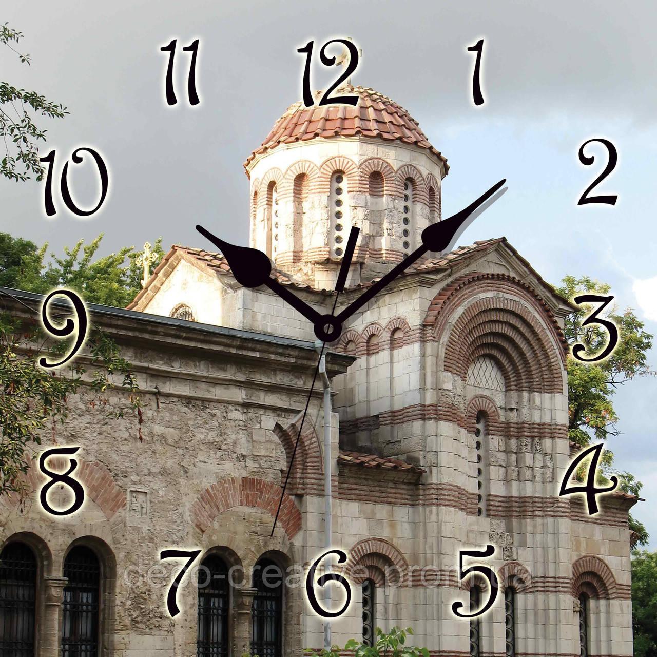 Годинник настінний Старовинна церква 2
