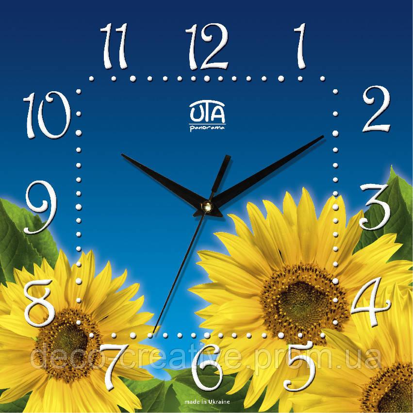 Годинник настінний Соняхи