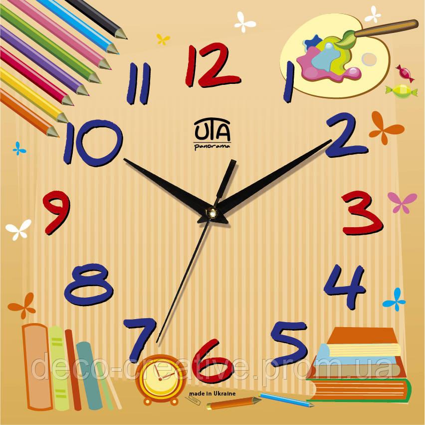Годинник настінний Кольорові олівці