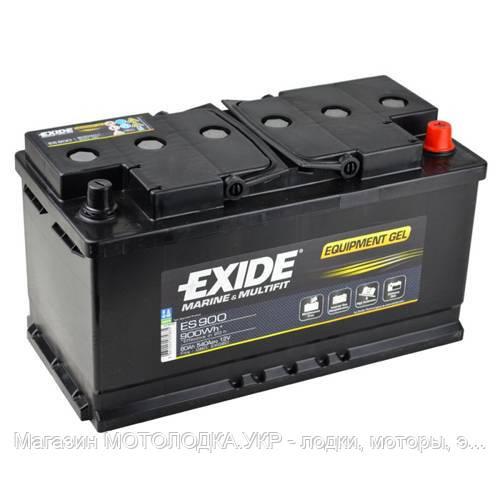 Аккумулятор гелевый EXIDE Technologies Equipment Gel ES 900 (80 Ач). Для постоянных глубоких разрядов.
