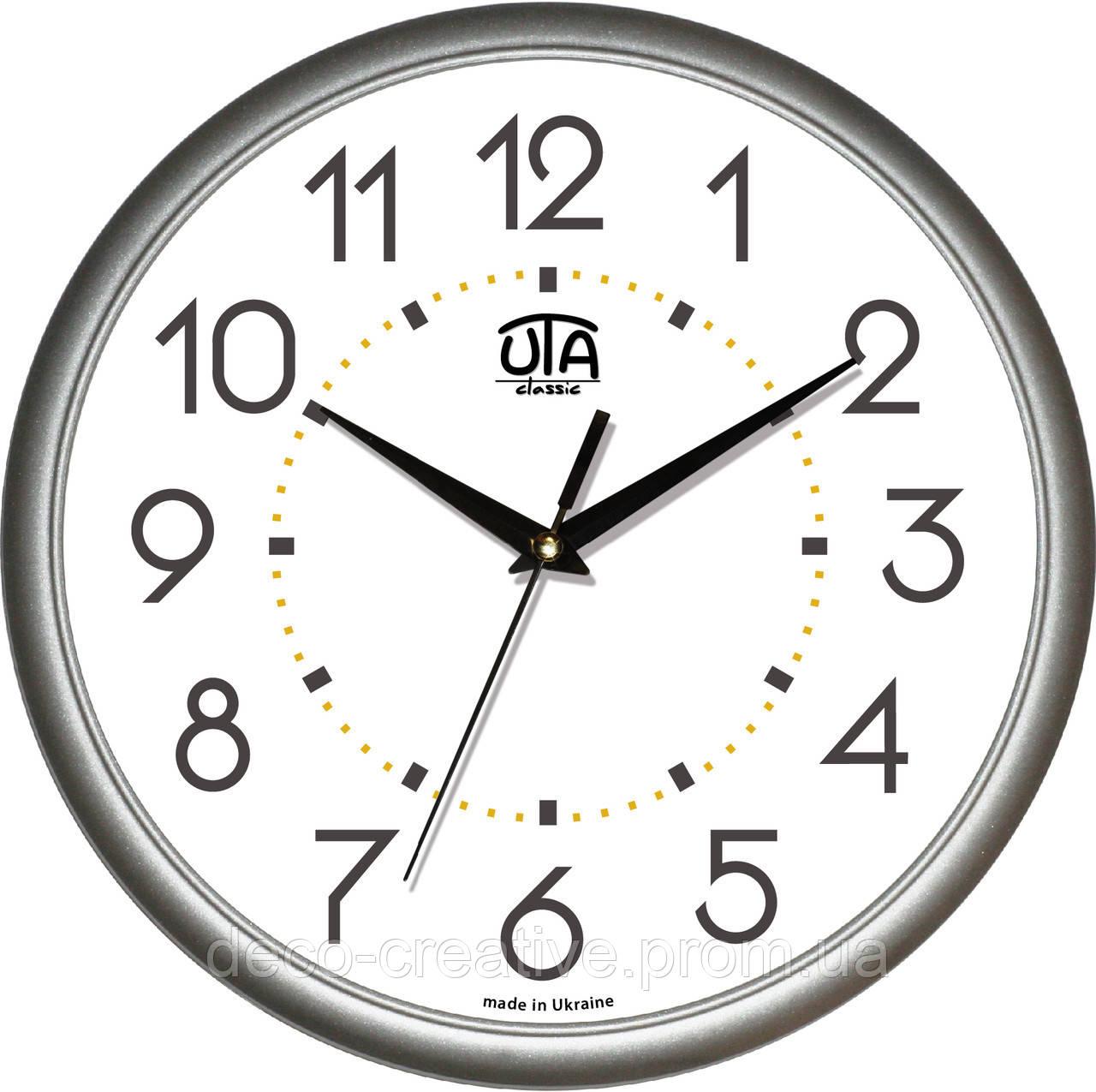 """Годинник настінний ЮТА """"Классика"""" 300Х300Х45мм            01 S 03"""