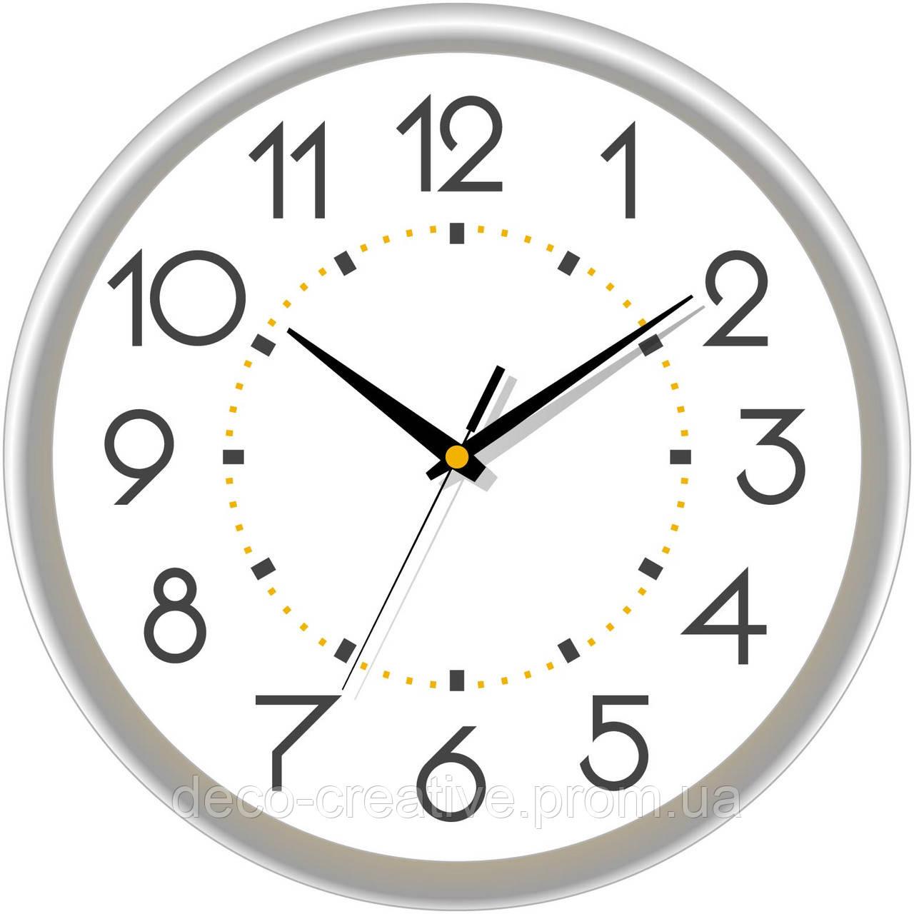 """Годинник настінний ЮТА """"Классика"""" 01 S 03 без лого"""