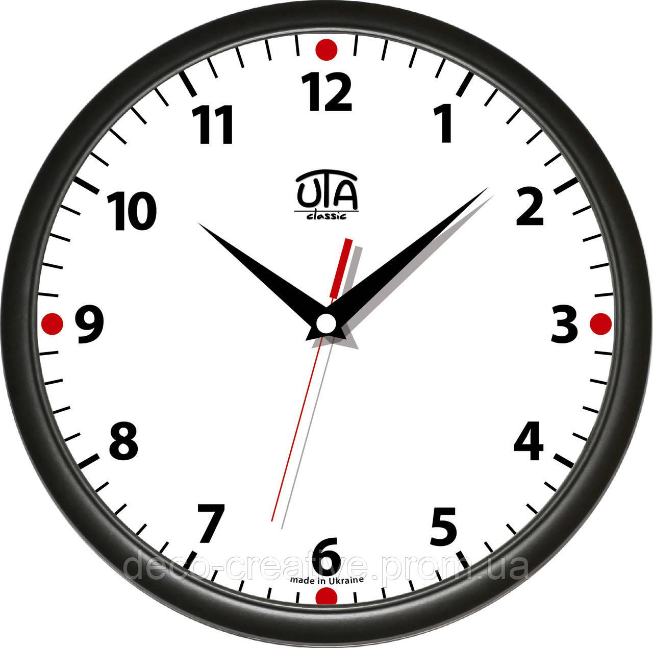 """Годинник настінний ЮТА """"Классика"""" 01 B 02"""