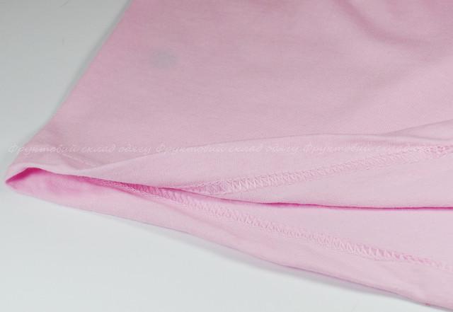 Светло-розовая детская классическая футболка для мальчиков