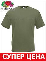 Мужская Футболка Классическая Fruit of the loom Оливковый 61-036-59 S