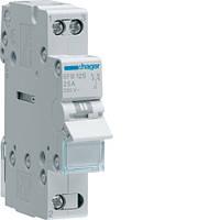 Переключатель I-0-II с общим выходом снизу, 1-пол., 25А/230В, 1м (SFB125)