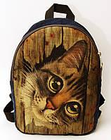 Джинсовый рюкзак Кот , фото 1