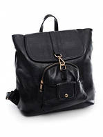 Кожаный женский рюкзак-сумка 1888 Black