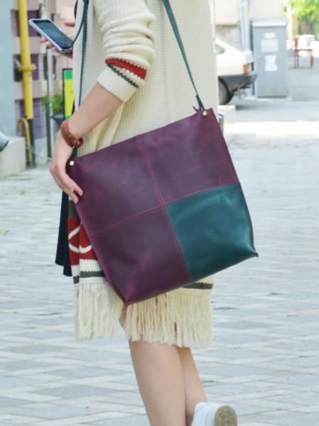 Женская сумка из кожи Квадрат Babak 888066/77