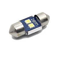 LED-лампа для салона автомобиля UP-SJ-N2-3030-28MM (белая, 12-14 В)