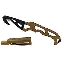 Нож для экстремальных ситуаций Gerber Crisis Hook Knife TAN499. Нескладной. Отличное качество.  Код: КГ323