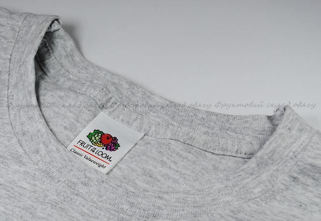 Серо-лиловая мужская классическая футболка