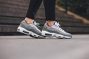 "Кроссовки Nike Air Max 95 Premium Safari Pack ""Сream white/Black"", фото 2"
