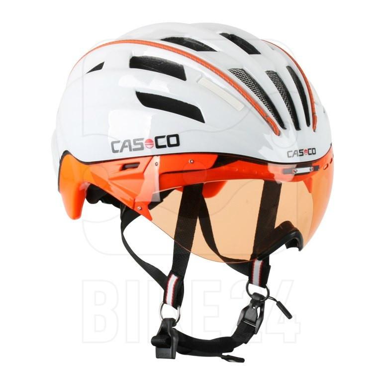 Велошлем Casco PEEDster-TC plus white-orange, ONLY VO (MD)