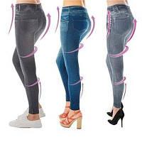 Корректирующие фигуру и талию женские джинсы - леггинсы. Разные цвета и размеры. Розница, опт в Украине.
