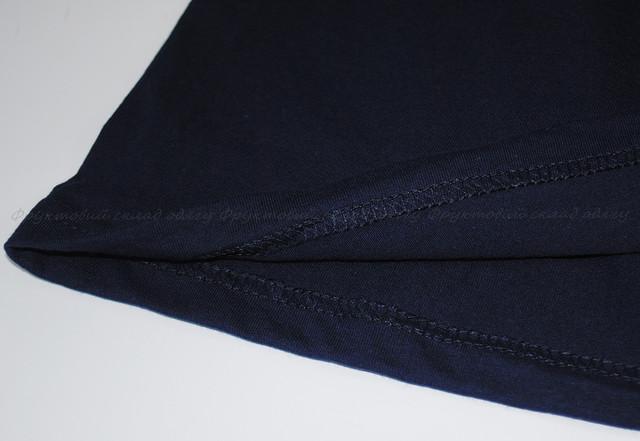 Глубоко тёмно-синяя детская классическая футболка для девочек