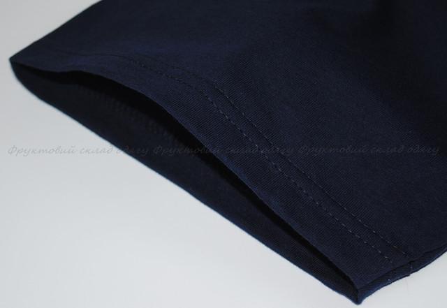 Глубоко тёмно-синяя детская классическая футболка для мальчиков