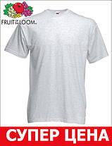 Мужская Футболка Классическая Fruit of the loom Пепельный 61-036-93 Xxl, фото 3