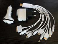Универсальная зарядка 10 pin + iPhone5 (блистер), зарядка для мобильных устройств