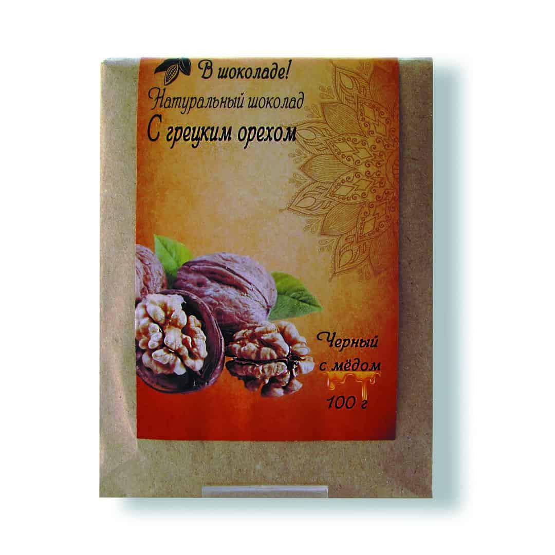 Шоколад ручной работы с грецким орехом 100 г