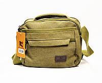 Мужская тканевая сумка цвета хаки GGG-768513, фото 1