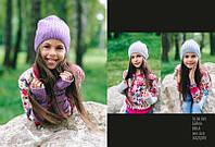 Набор шапка и минетки для девочки арт. Бейла