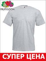Мужская Футболка Классическая Fruit of the loom Серо-Лиловый 61-036-94 S, фото 3