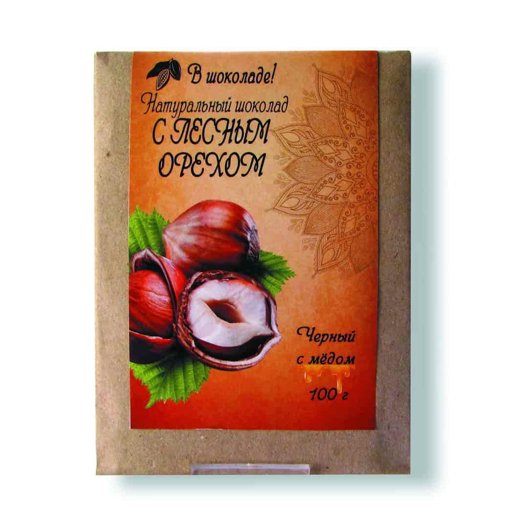 Шоколад ручной работы с лесным орехом 100 г